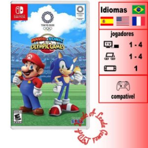 Mario & Sonic at the Olympic Games Tokyo 2020 - SWITCH - Novo [EUA]