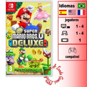 New Super Mario Bros U Deluxe  - SWITCH - Novo