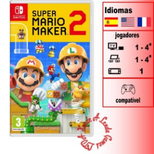 Super Mario Maker 2 - SWITCH - Novo