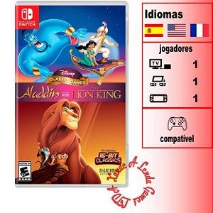Disney Classic Games: Aladdin + O Rei Leão - SWITCH - Novo