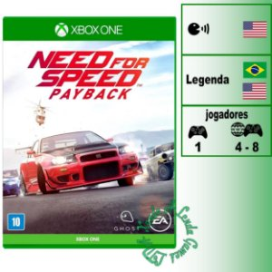 Need For Speed Payback - XBOX ONE - Novo