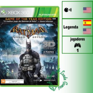 Batman Arkham Asylum: Game of the Year Edition - XBOX 360 - Novo