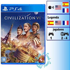 Sid Meier's Civilization VI - PS4 - Novo