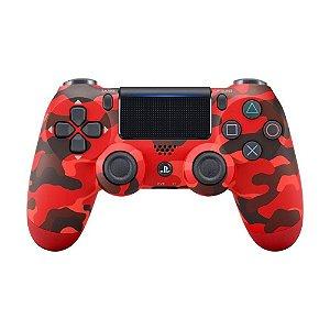 Controle Dualshock 4 - PS4 - Novo - Vermelha Camuflada