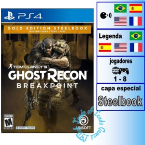 Tom Clancy's Ghost Recon Breakpoint Gold Edition Steelbook - PS4 - Novo