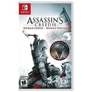 Assassin's Creed III Remasterizado - SWITCH - Novo