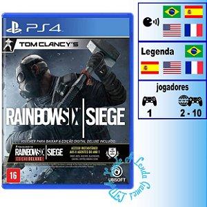 Tom Clancy's Rainbow Six Siege Edição Deluxe - PS4 - Novo