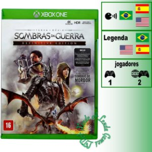 Terra Média: Sombras da Guerra Definitive Edition - XBOX ONE - Novo