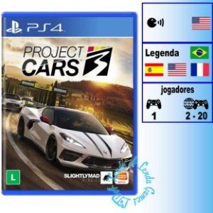 Project Cars 3 - PS4 - Novo