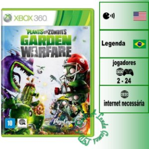 Plants vs Zombies Garden Warfare - XBOX 360 - Novo