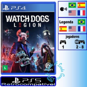 Watch Dogs Legion - PS4 / PS5 - Novo