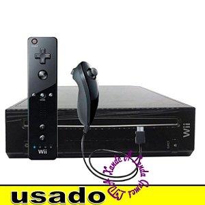 Console Nintendo Wii Black (com 4 entradas para controle de Gamecube) Europeu - Usado [sem caixa]