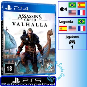Assassin's Creed Valhalla - PS4/PS5 - Novo