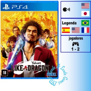 Yakuza Like A Dragon - PS4 - Novo
