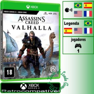 Assassin's Creed Valhalla - XBOX ONE/XBOX SERIES X - Novo