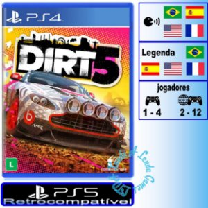 Dirt 5 - PS4/PS5 - Novo