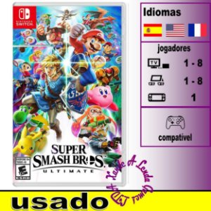 Super Smash Bros Ultimate - SWITCH - Usado