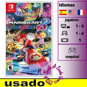 Mario Kart 8 Deluxe - SWITCH - Usado