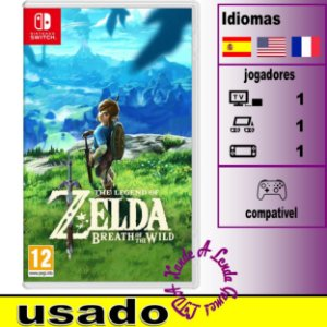 The Legend of Zelda Breath of the Wild - SWITCH - Usado