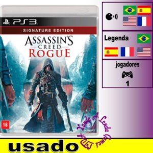 Assassin's Creed Rogue Signature Edition - PS3 - Usado