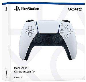 Controle Dualsense - PS5 - Novo - Preto e Branco