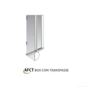 Kit alumínio box de abrir com transpasse – 1,20 m