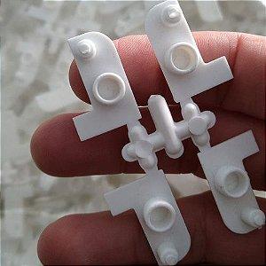 Acabamento de leito do trilho modelo sistema EURO branco / 4 peças