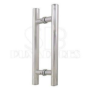 Puxador H Alumínio 30X20 cm Brilhante