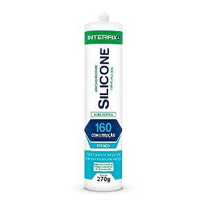 Silicone Acético 160 Construção Branco - 270 g