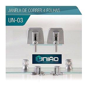KIT 03 - JANELA DE CORRER 4 FOLHAS