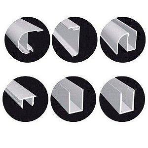 KIT BOX F1 de correr 1,33mX1,90m para 1 vidro fixo e 1 vidro móvel