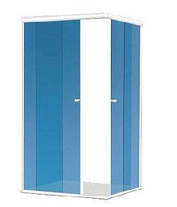 KIT BOX CT 1,00X1,00X1,90 (Acessórios + Perfis) para 1 vidro fixo e 1 vidro móvel