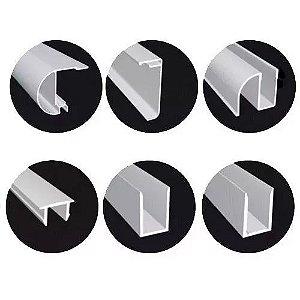 KIT BOX F3 2,00 m (Acessórios + Perfis) para 2 vidros fixos e 2 vidros móveis