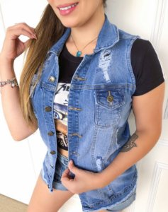 Colete Jeans Saboia
