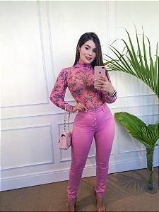 Body Floral Tule Pink