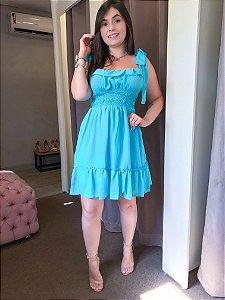 Vestido Curto She Like Azul