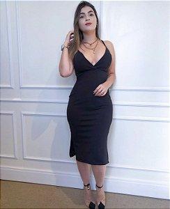 Vestido Midi Casual Preto