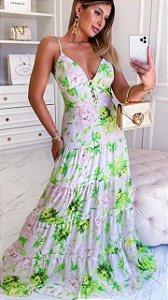 Vestido Longo Alcinha Grécia Verde