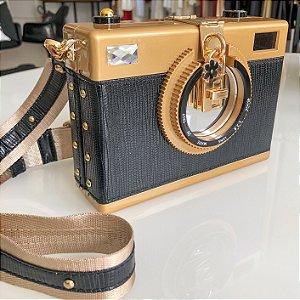 Bolsa Formato de Câmera Fotográfica e Espelho
