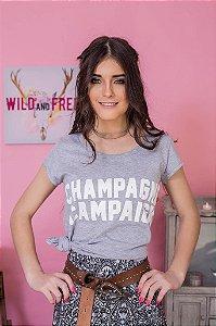 Camiseta Feminina Champagne Campaign