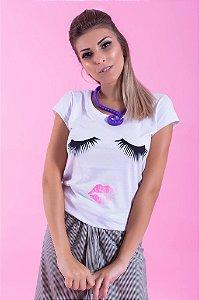 Camiseta Feminina Cílios
