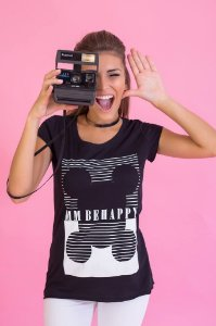 Camiseta Feminina MM Behappy
