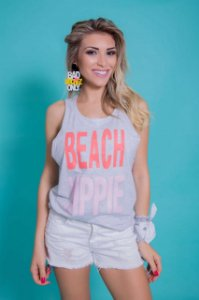 Camiseta Feminina Regata Beach Hippie