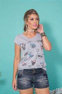 Camiseta Feminina Cats and Dogs