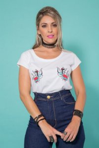 Camiseta Feminina Love Birds