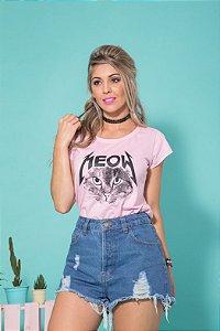 Camiseta Feminina Meow