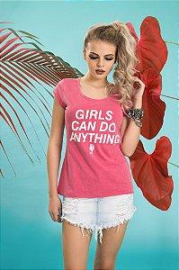 Camiseta Feminina Girls Can Do ESTONADA