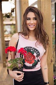 Camiseta Feminina Regata Rosa Heart Breaker