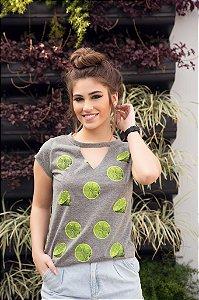 Camiseta Feminina Limoes