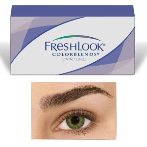 Lentes FreshLook Colorblends Gemstone Green - Sem Grau
